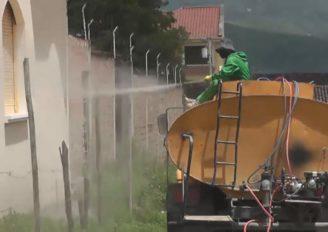 Continúa la fumigación de desinfección en Catamayo.