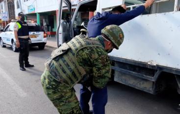 Operativo de control armas y explosivos por Fuerzas Armadas