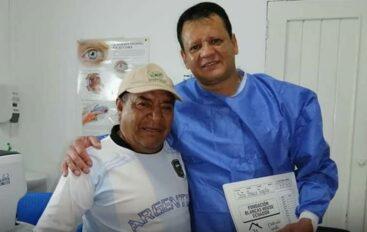 Exitosa cirugía a Don Teófilo Soto le permitió recuperar su vista