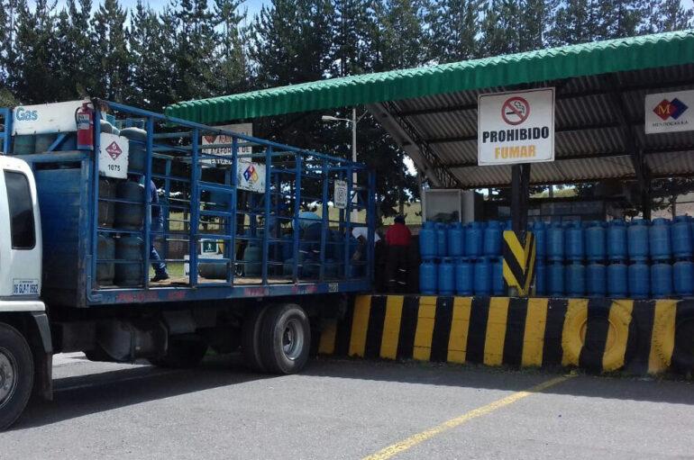 El gas domestico mantiene su precio normal en Catamayo