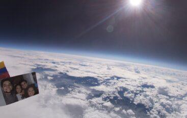 Ató una cámara a un globo de helio y logró un increíble video con imágenes de la Tierra desde la estratósfera