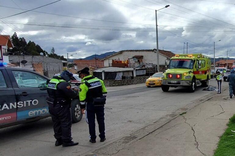 Mujer de 61 años falleció atropellada por un bus de transporte urbano en Cuenca