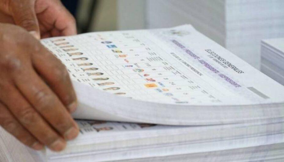 La impresión de papeletas presidenciales lleva un 47.64 % de avance