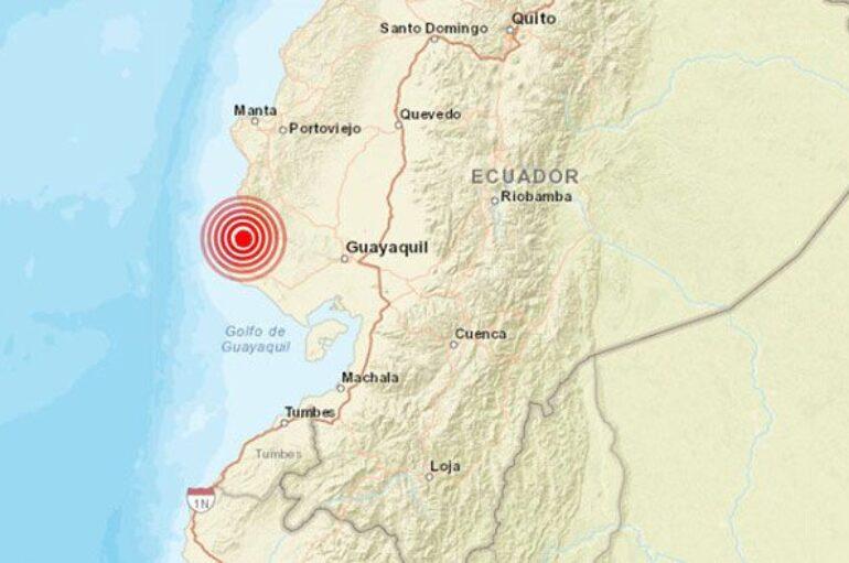 Sismo de magnitud 4,12 en la escala de Richter frente a las costas de Ecuador