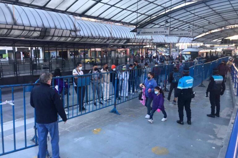 Quito sin buses, varios sectores de la capital están sin servicio de transporte de pasajeros