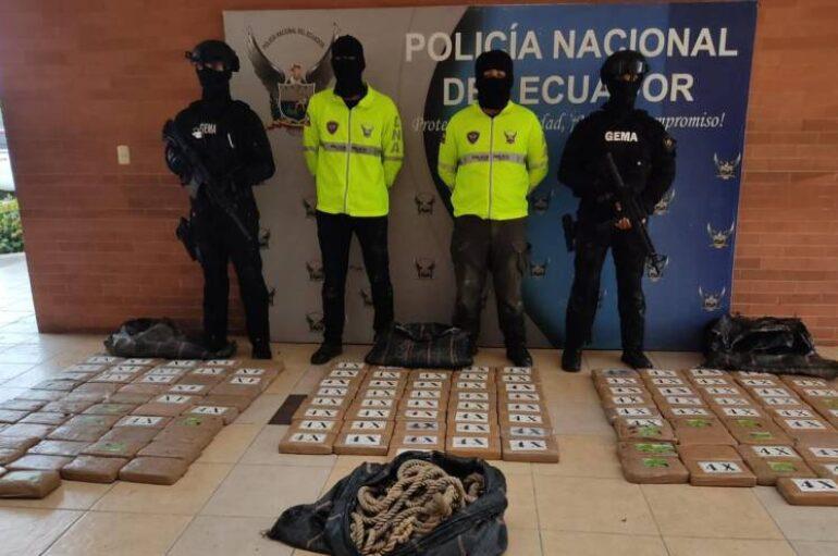 Localizaron 138 kilogramos de cocaína cerca del Puerto Marítimo de Guayaquil