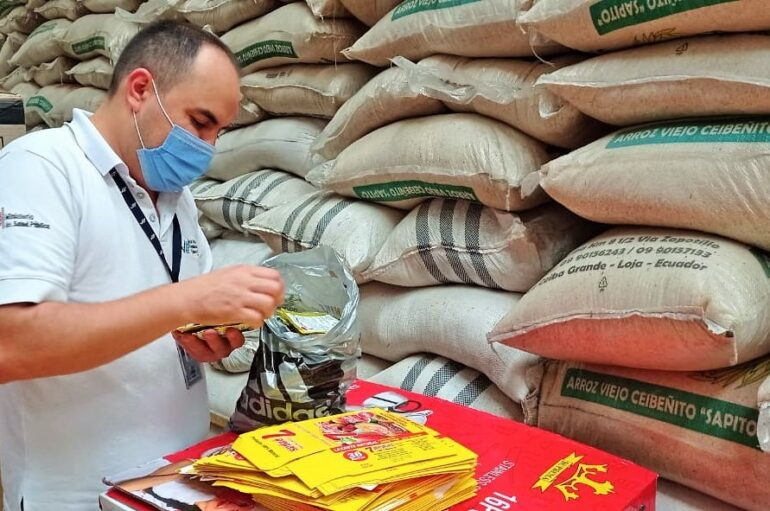 Verifican etiquetado de productos de consumo decomisados en Catamayo