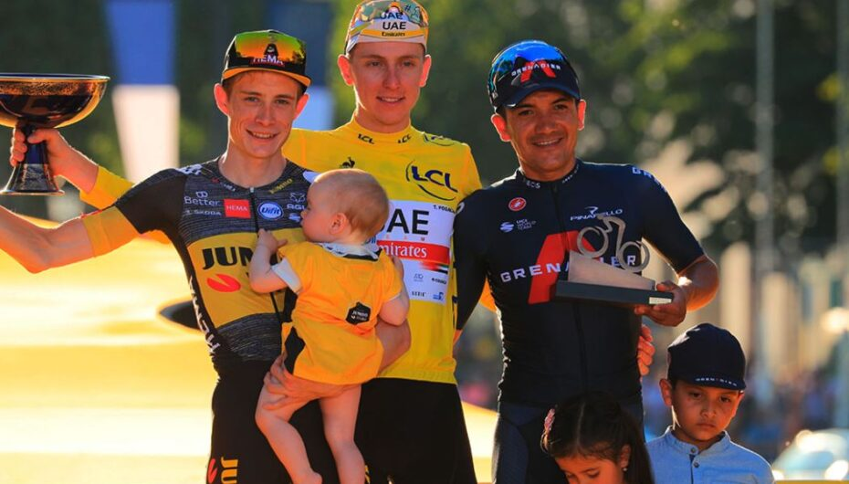 Richard Carapaz, el ciclista ecuatoriano logra el podio en el Tour de Francia