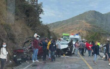 Fallecidos y heridos tras accidente de tránsito vía San Pedro de la Bendita – Las Chinchas