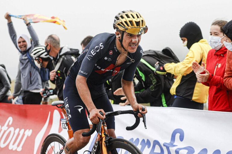 Richard Carapaz abandonó este sábado 28 de agosto la 76 Vuelta a España