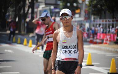 Andrés Chocho en el puesto 19 de los 50km marcha de los Juegos Olímpicos
